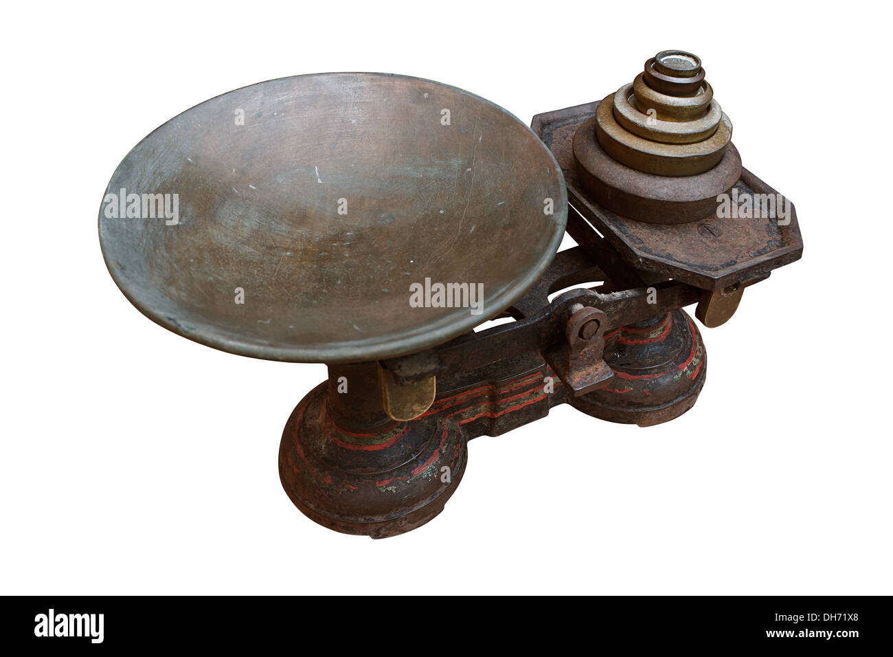 Antique set of Grocers scales - Stock Image
