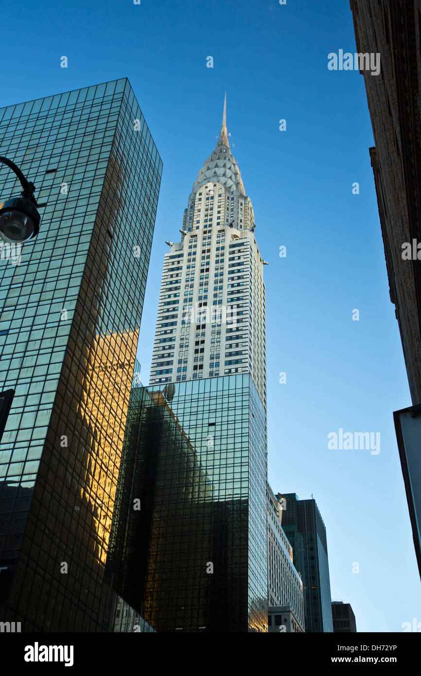 View of the Top of the Chrysler Building - Stock Image