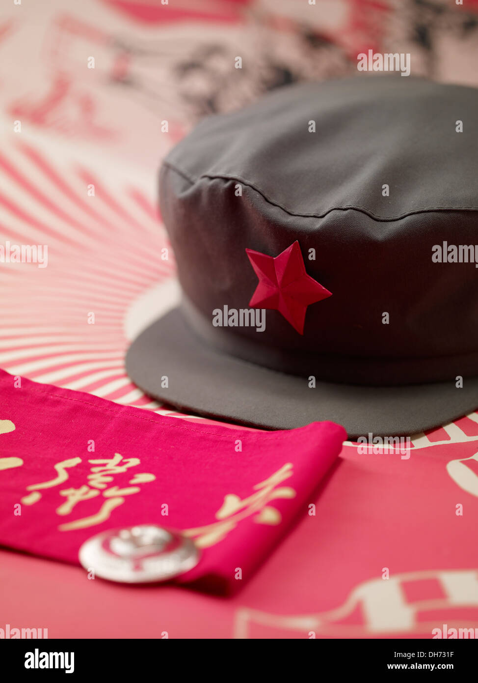 f1cb3f80d Chinese Communist soldier red army cap, military hat, and slogan ...