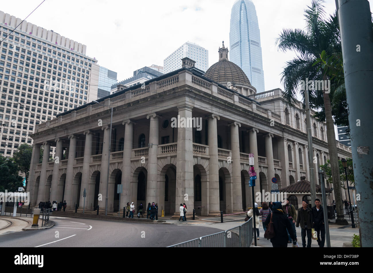 The old Legislative Council Building in Hong Kong. - Stock Image
