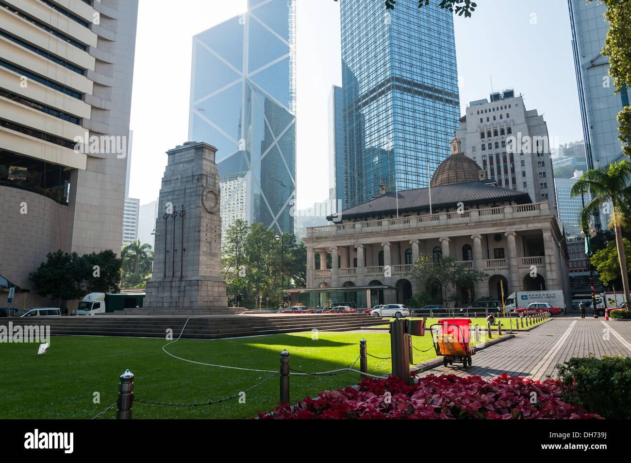 Skyscrapers in Hong Kong. - Stock Image