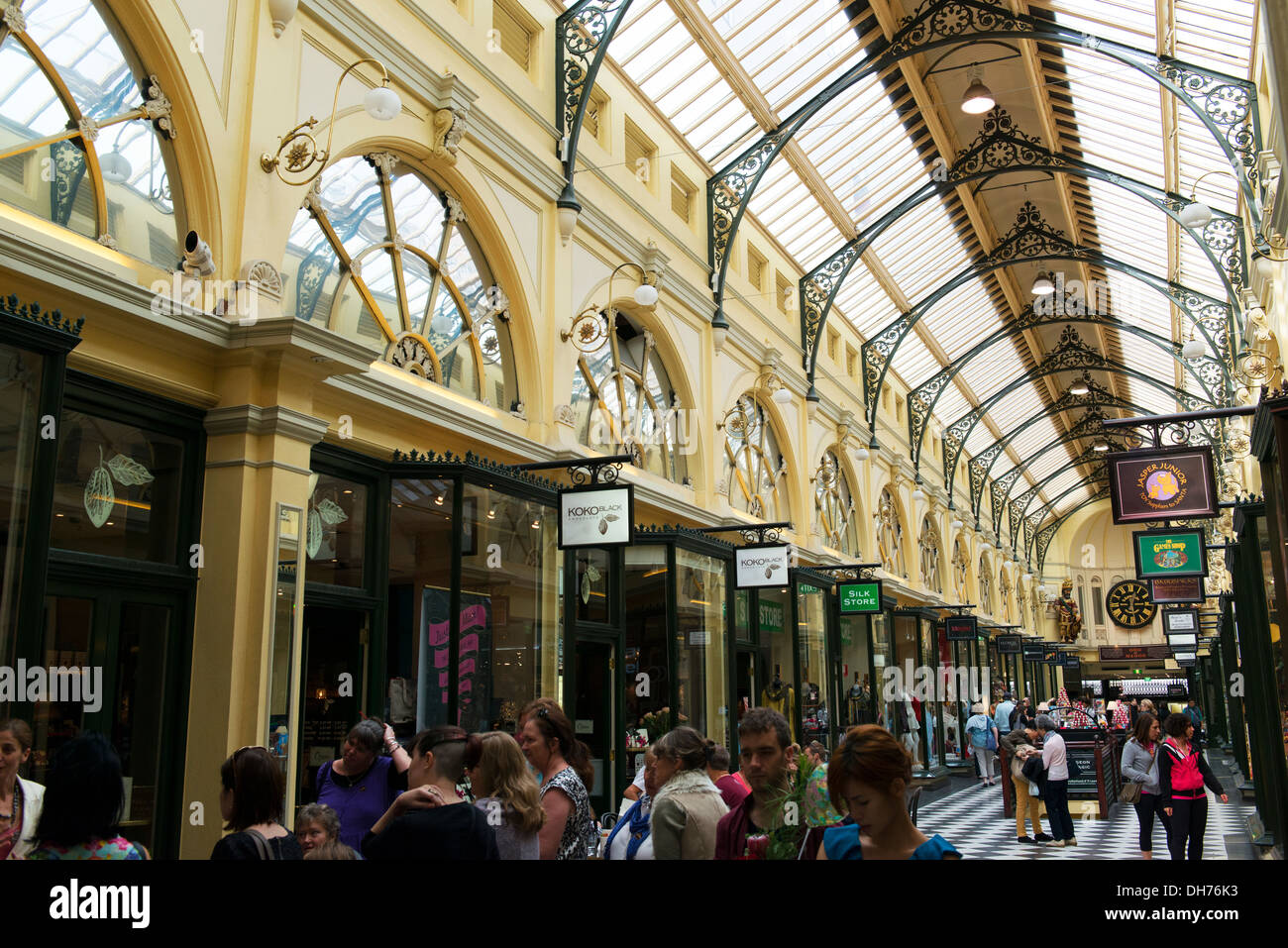 Royal Arcade in Melbourne. - Stock Image