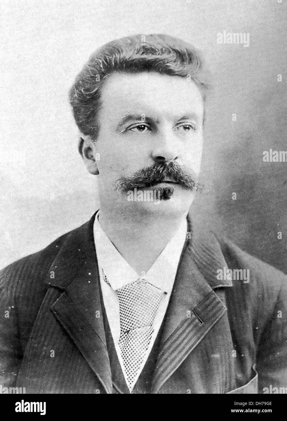 Guy de Maupasssant - 5 August 1850 – 6 July 1893 - French writer - Stock Image