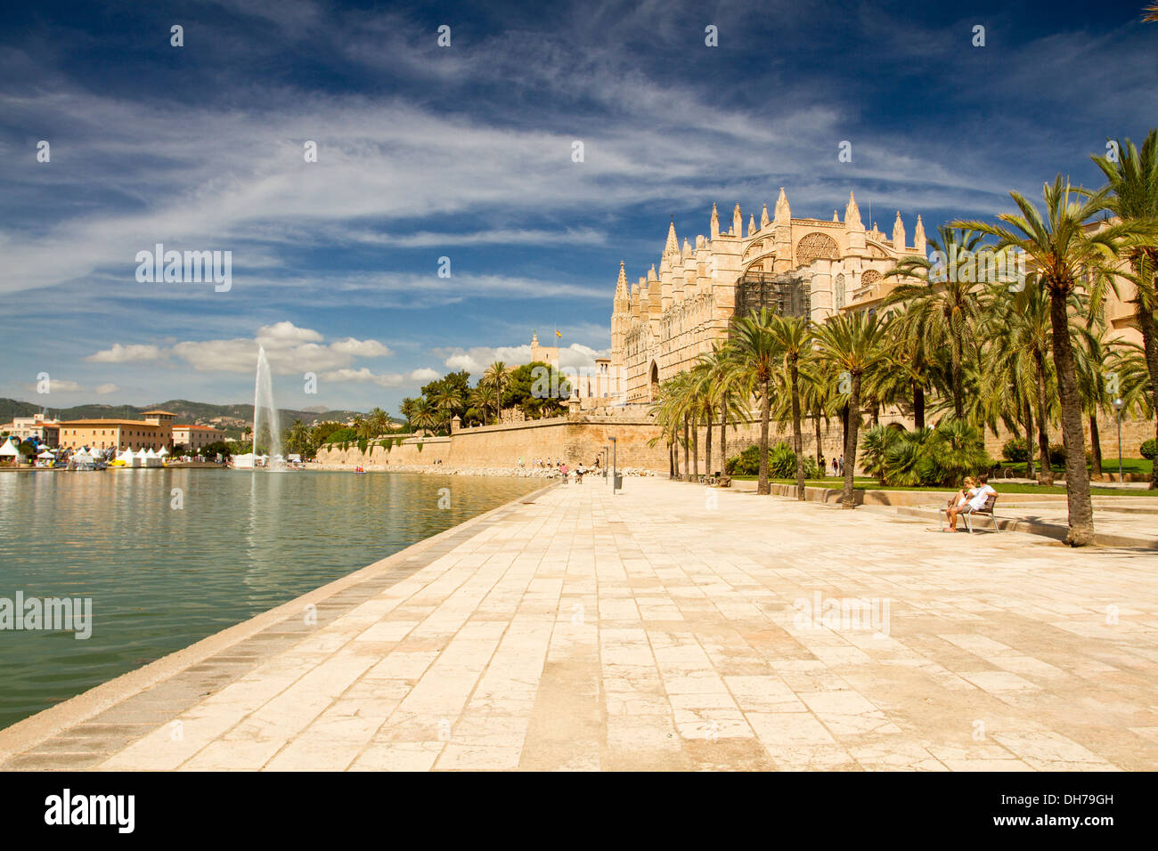 La Seu Cathedral, Palma de Mallorca, Balearic Islands, Spain. - Stock Image