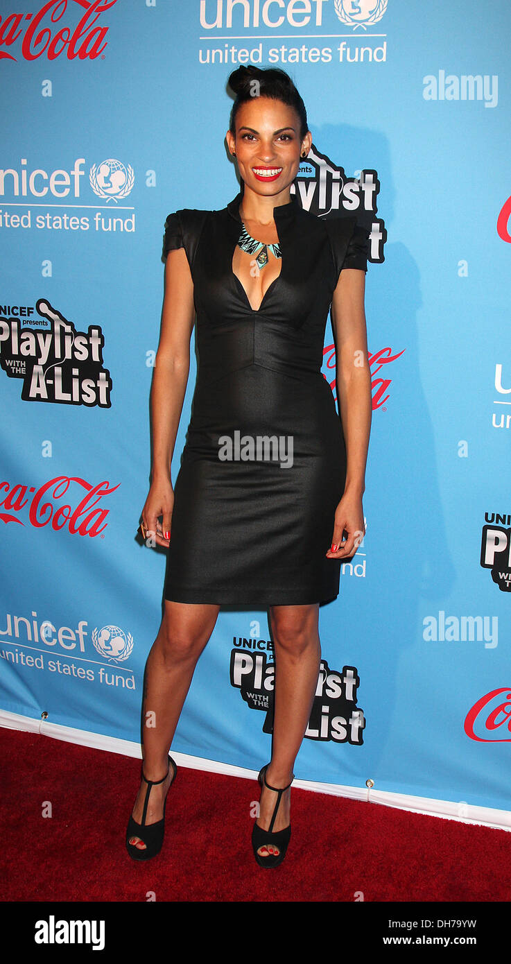 Goapele UNICEF Playlist With A-List - Arrivals at El Rey Theatre Los Angeles California - 15.03.12 - Stock Image