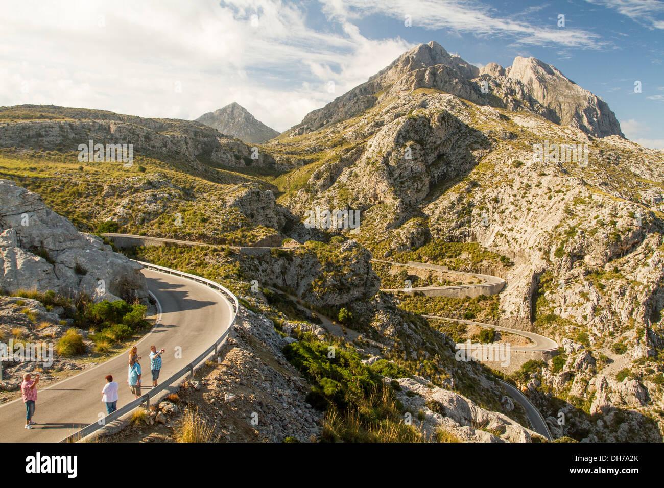 Coll dels Reis, Sa Calobra, Mallorca. - Stock Image