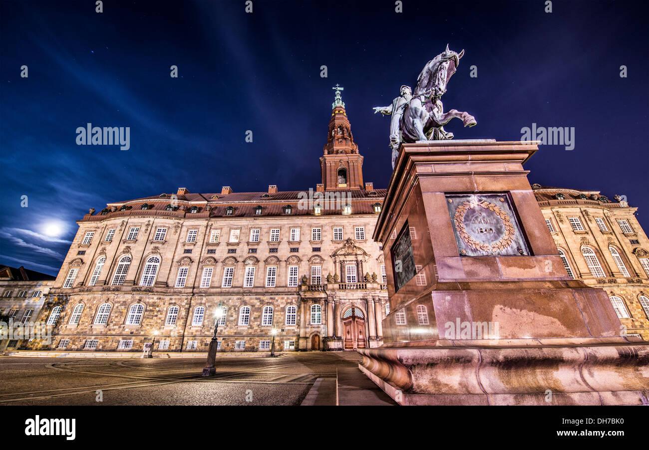 Christiansborg Palace in Copenhagen, Denmark. - Stock Image