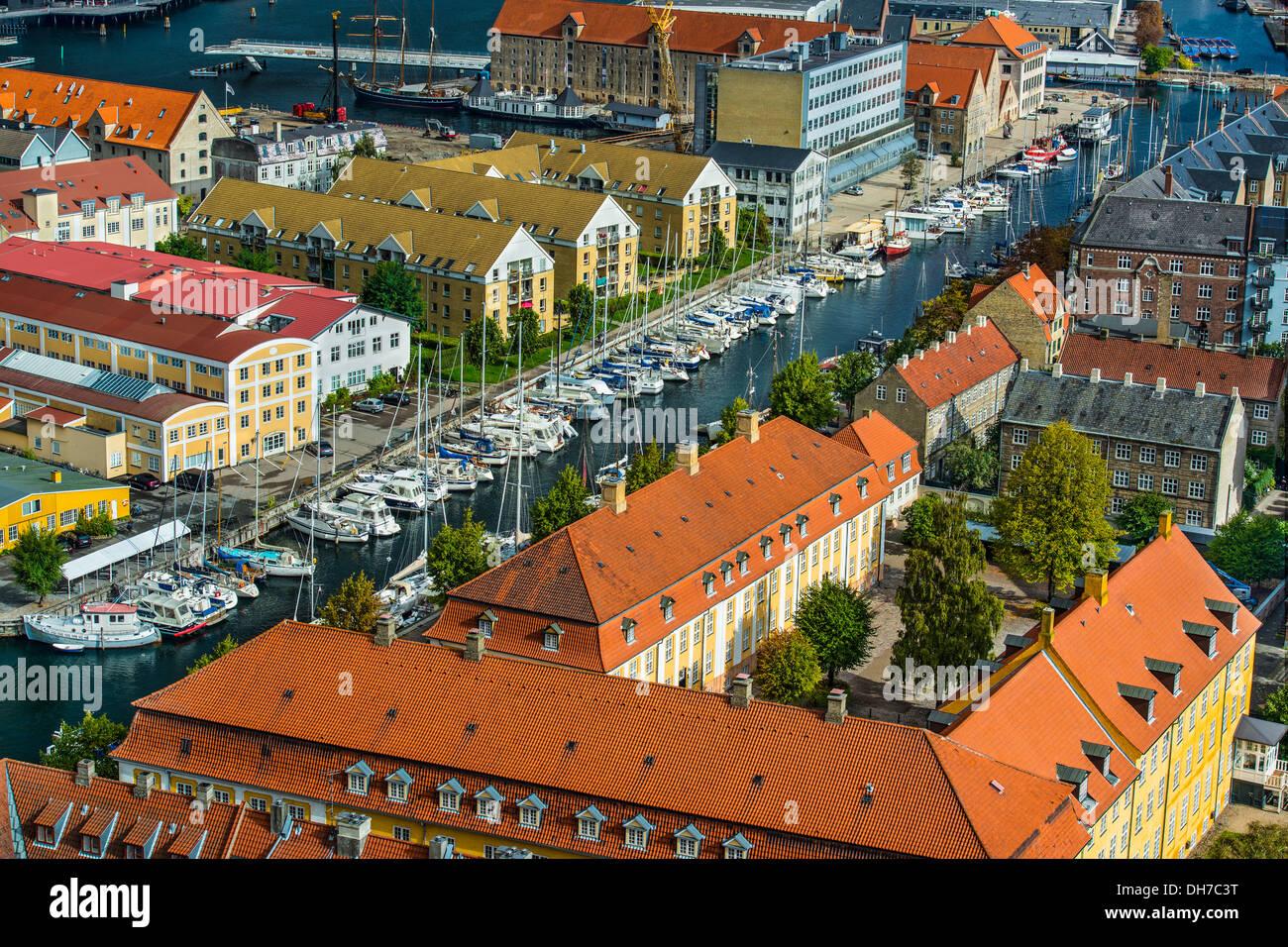 Christianhavn Canal, Copenhagen, Denmark - Stock Image