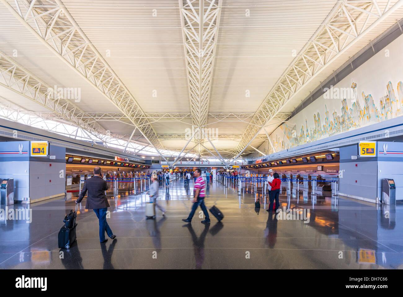 JFK Airport ticket terminal in New York City. - Stock Image