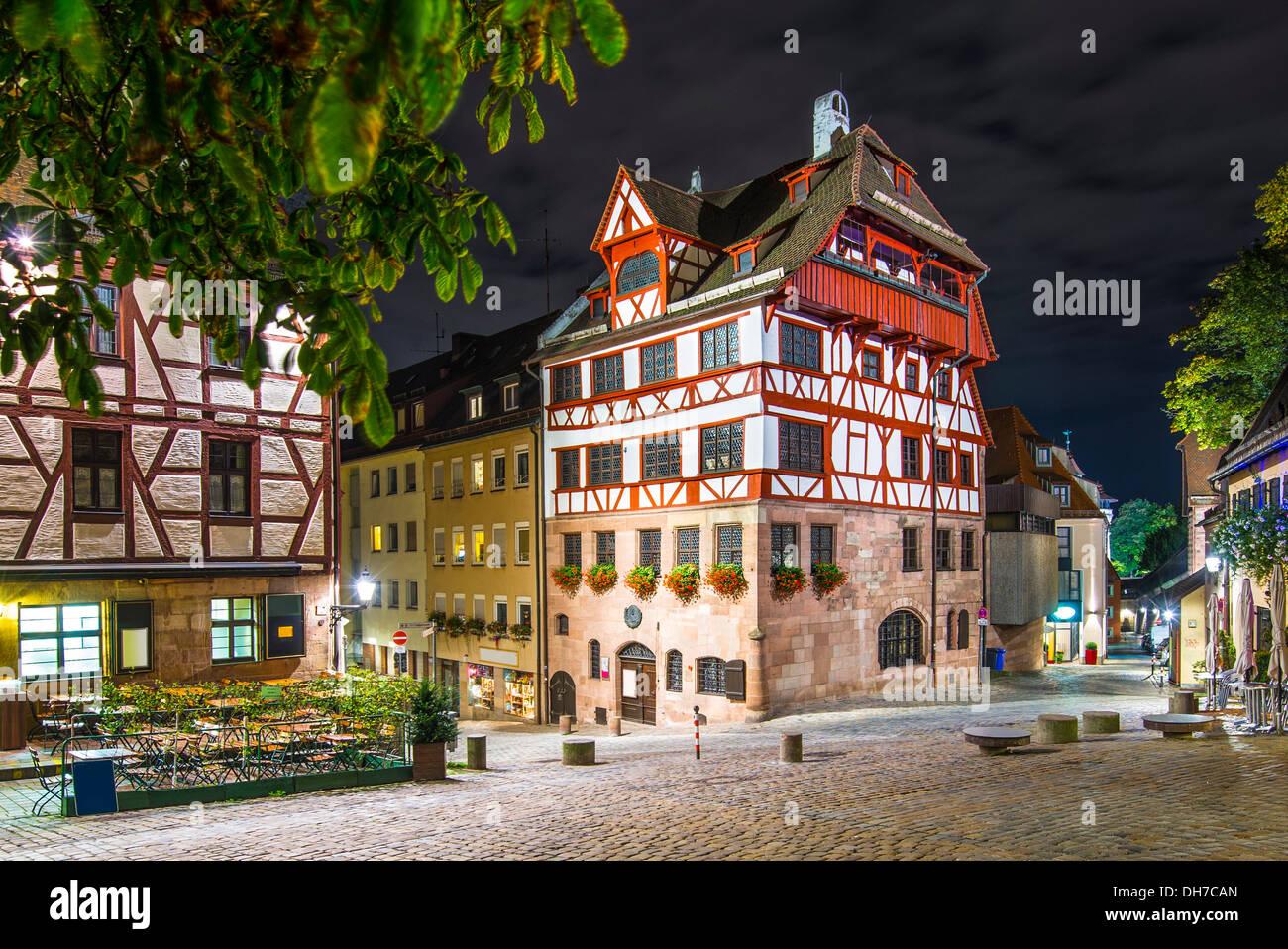 Albrecht Durer House in Nuremberg, Germany. - Stock Image