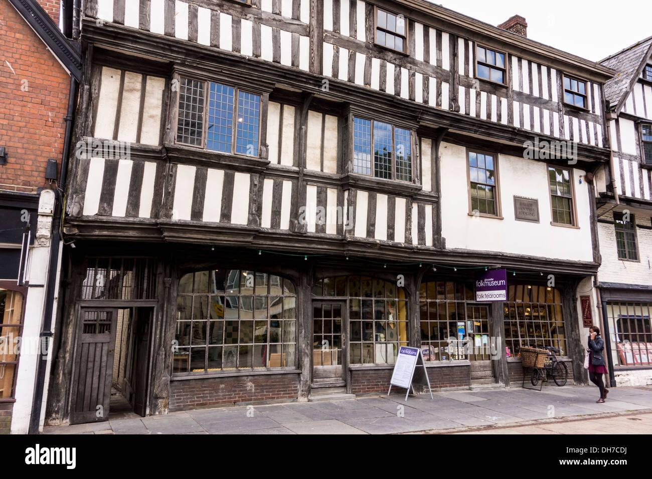 Folk Museum Tearooms in Gloucester, Gloucestershire, UK Stock Photo