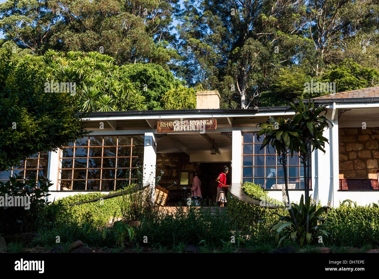 Rhodes Nyanga Hotel, Nyanga, Zimbabwe - Stock Image
