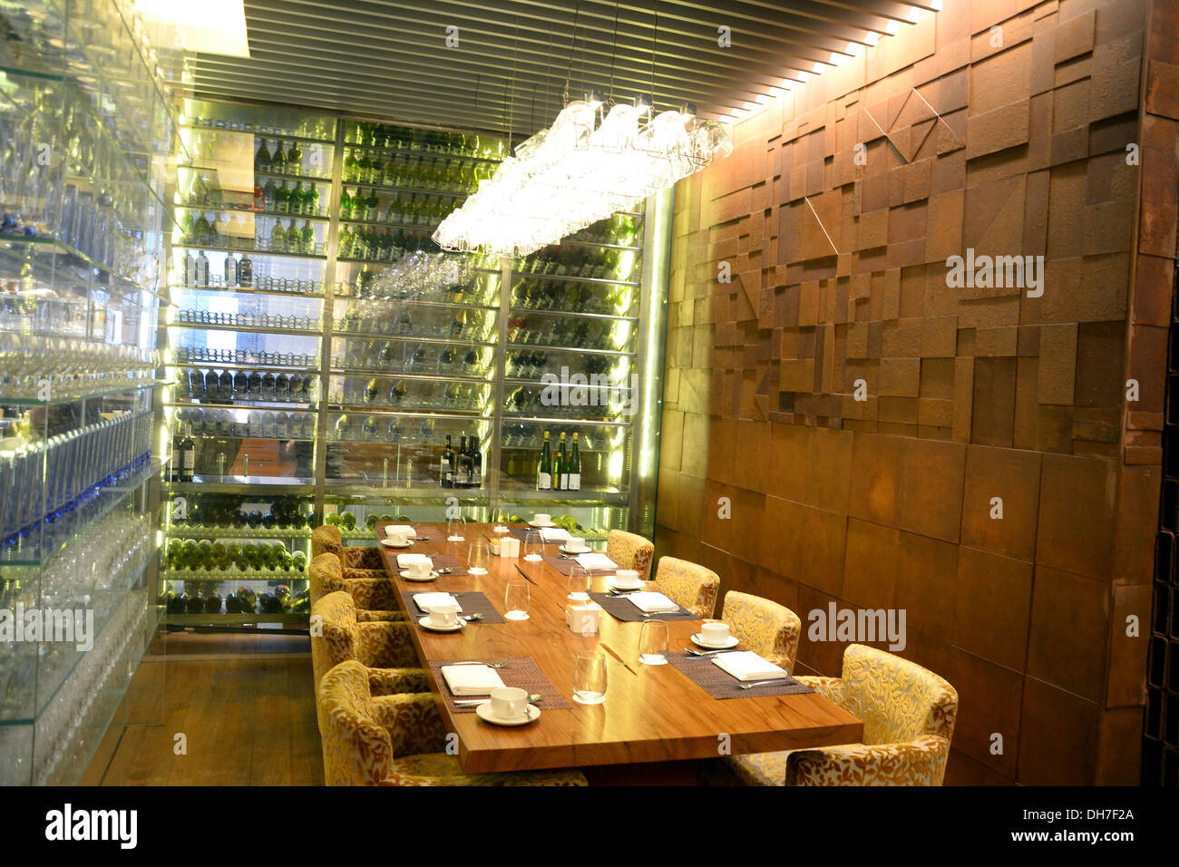 Restaurant dining table - Stock Image