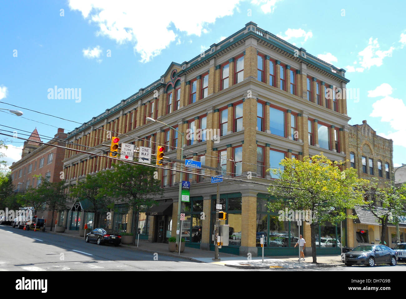 Ad-Lin Building on the courthouse square in Scraton, Pennsylvania. Listed on the NRHP on November 5, 1987. At 600 Linden Street, - Stock Image