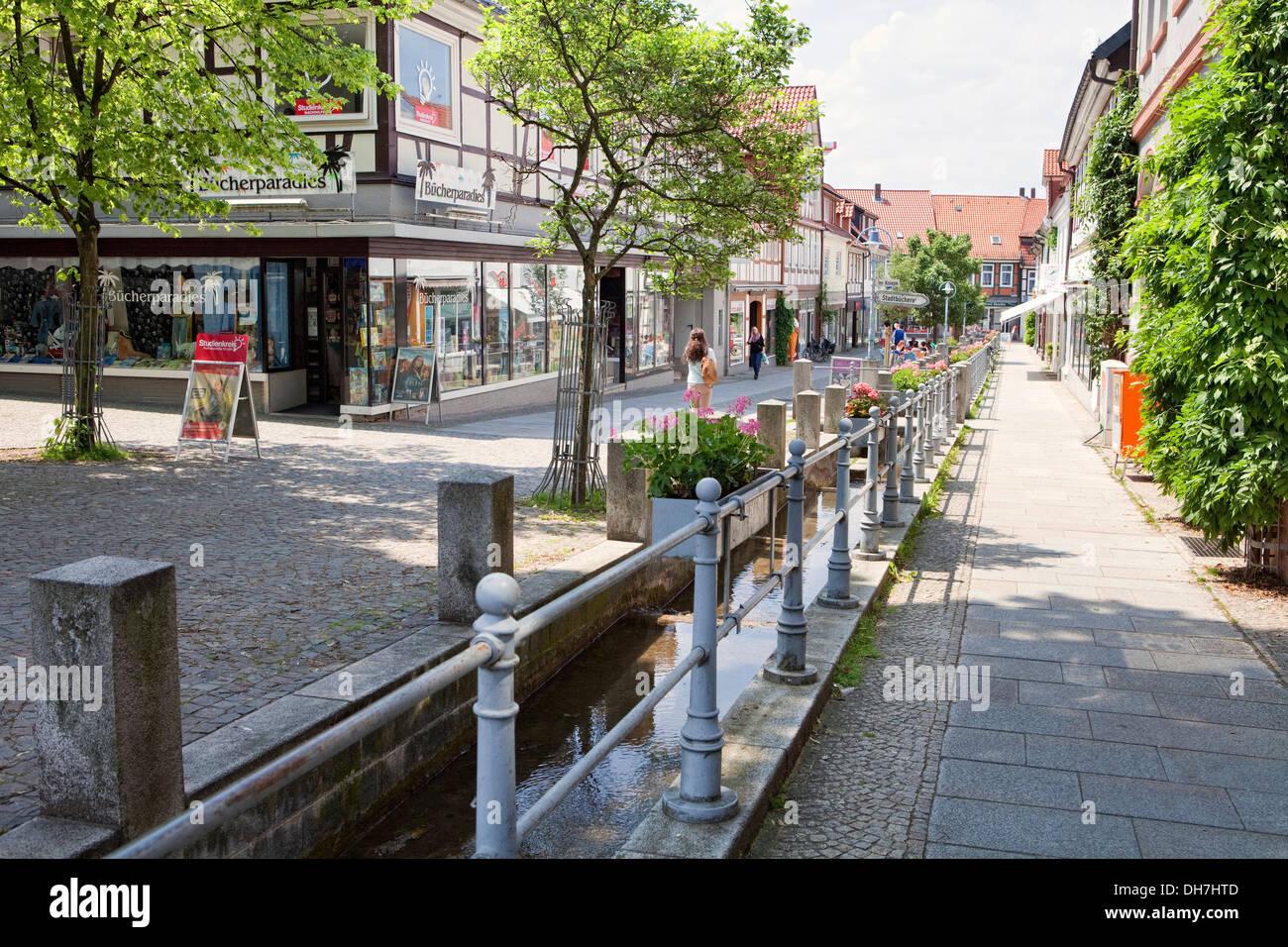 Marktstrasse, Alfeld, Leine, Lower Saxony, Germany, Europe - Stock Image