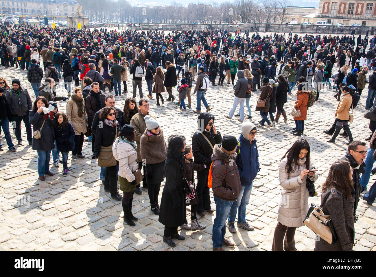 Image result for standing in line versaille palace