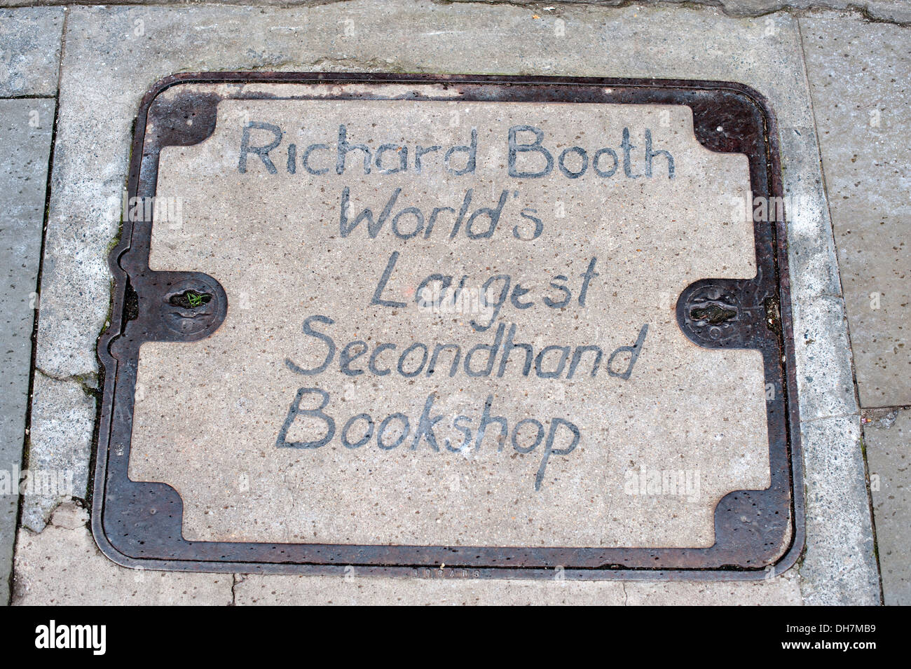 Richard Booth Worlds Largest Secondhand Bookshop Hay-On-Wye UK - Stock Image