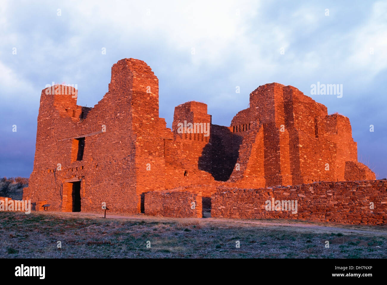 Church at Quarai Mission, Salinas Pueblo Missions National Monument, New Mexico USA - Stock Image