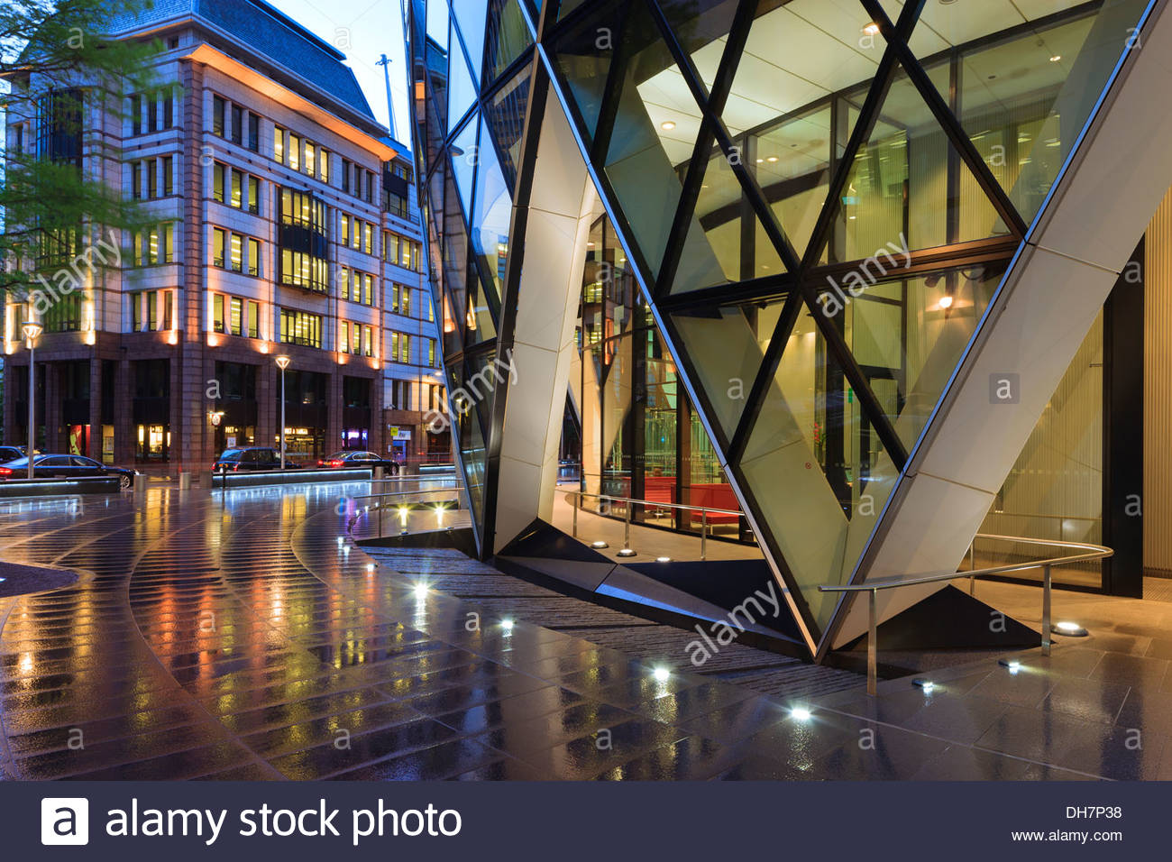 Gherkin 30 St Marys Axe Financial District London England - Stock Image