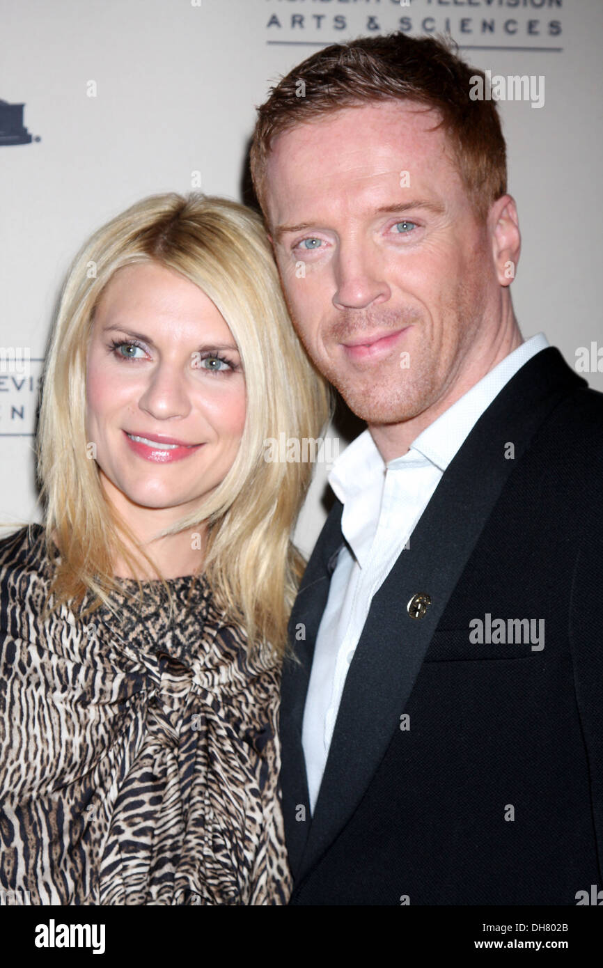 Claire Danes and Damian Lewis arrive at 'Homeland' Panel at Academy of TV Arts and Sciences Hollywood California - 21.03.12 - Stock Image