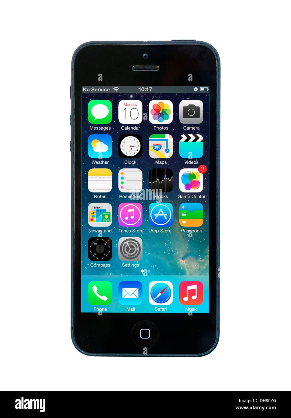 iPhone 5 smartphone - Stock Image