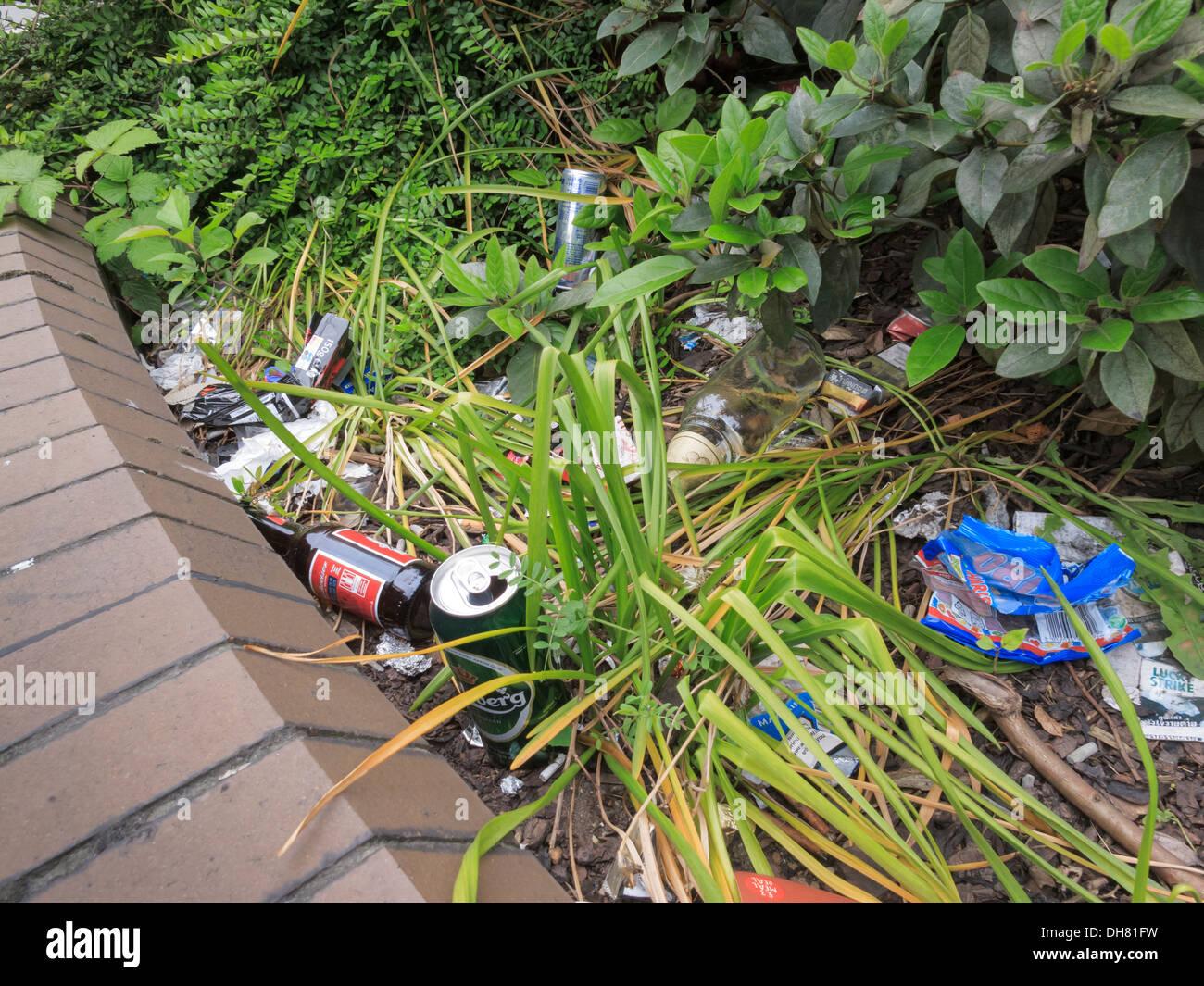Rubbish Litter - Stock Image