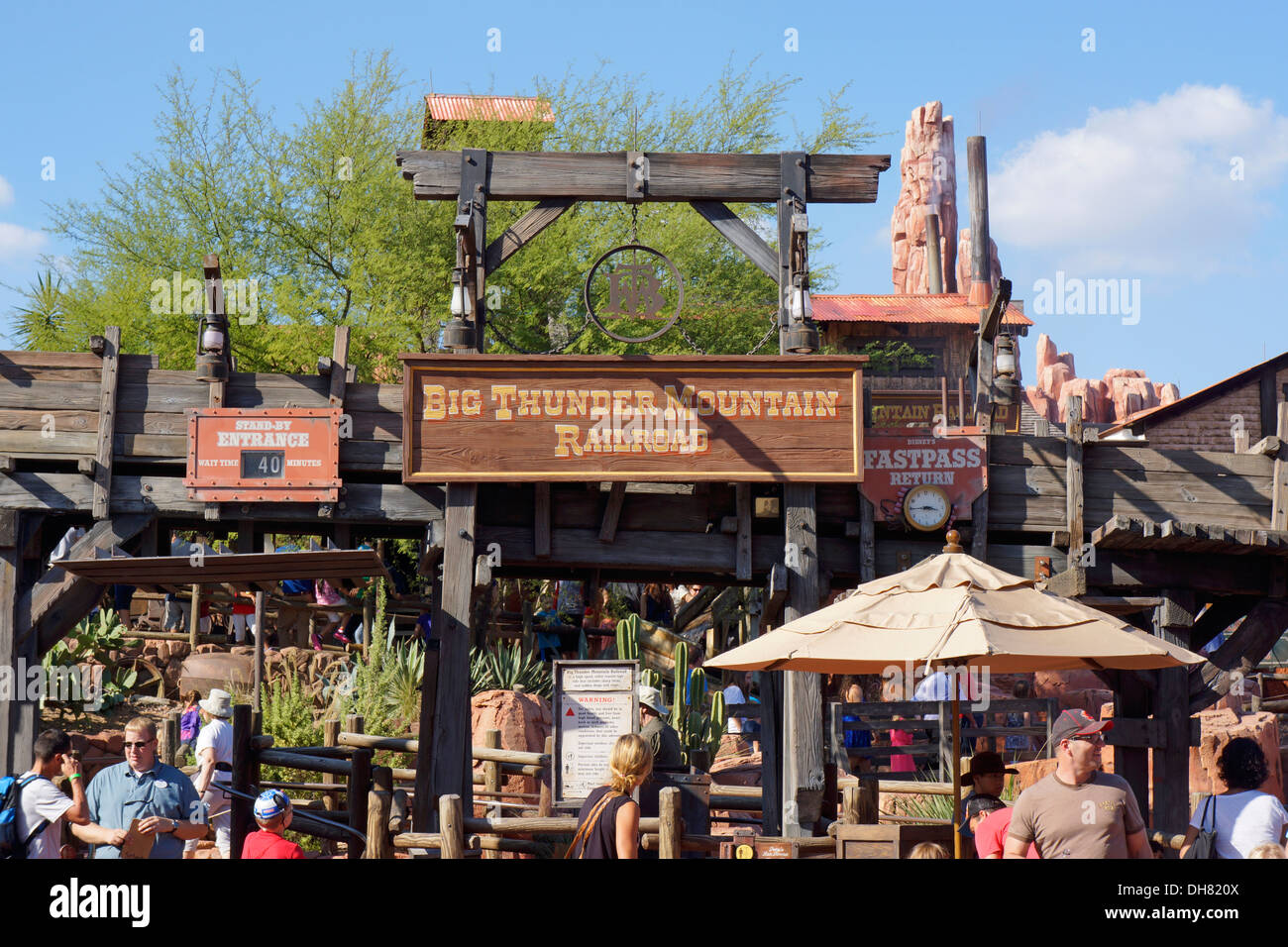 Big Thunder Mountain Railroad Rides Roller Coaster In