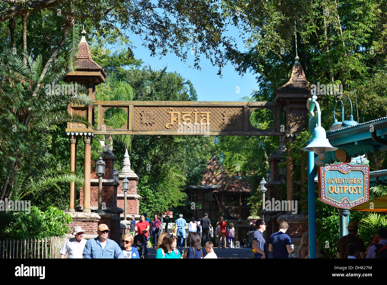 Animal Kingdom, Asia, entrance to, Disney World Resort, Orlando Florida - Stock Image