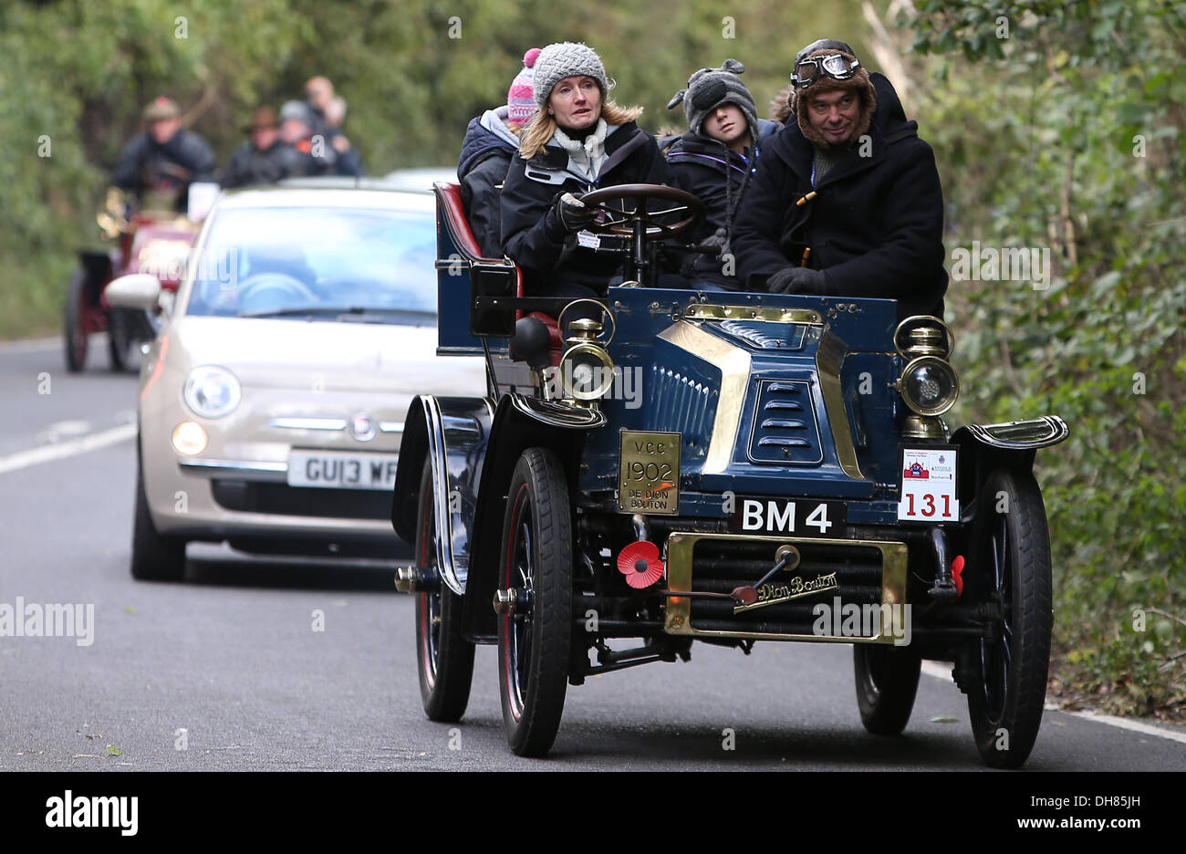 Competitors head up Clayton Hill near Brighton during the annual ...