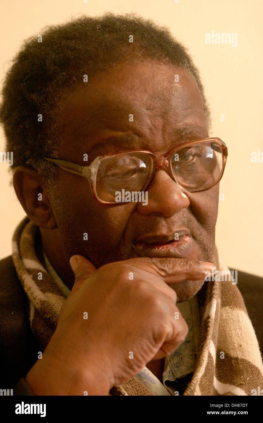 Credo Mutwa. Sanusi, traditional healer and author. South Africa.Photograph : John Hogg. Stock Photo