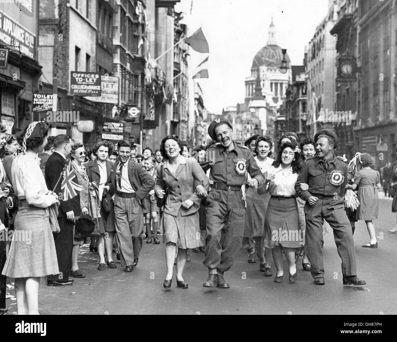 VE Day in London 1945 - Stock Image