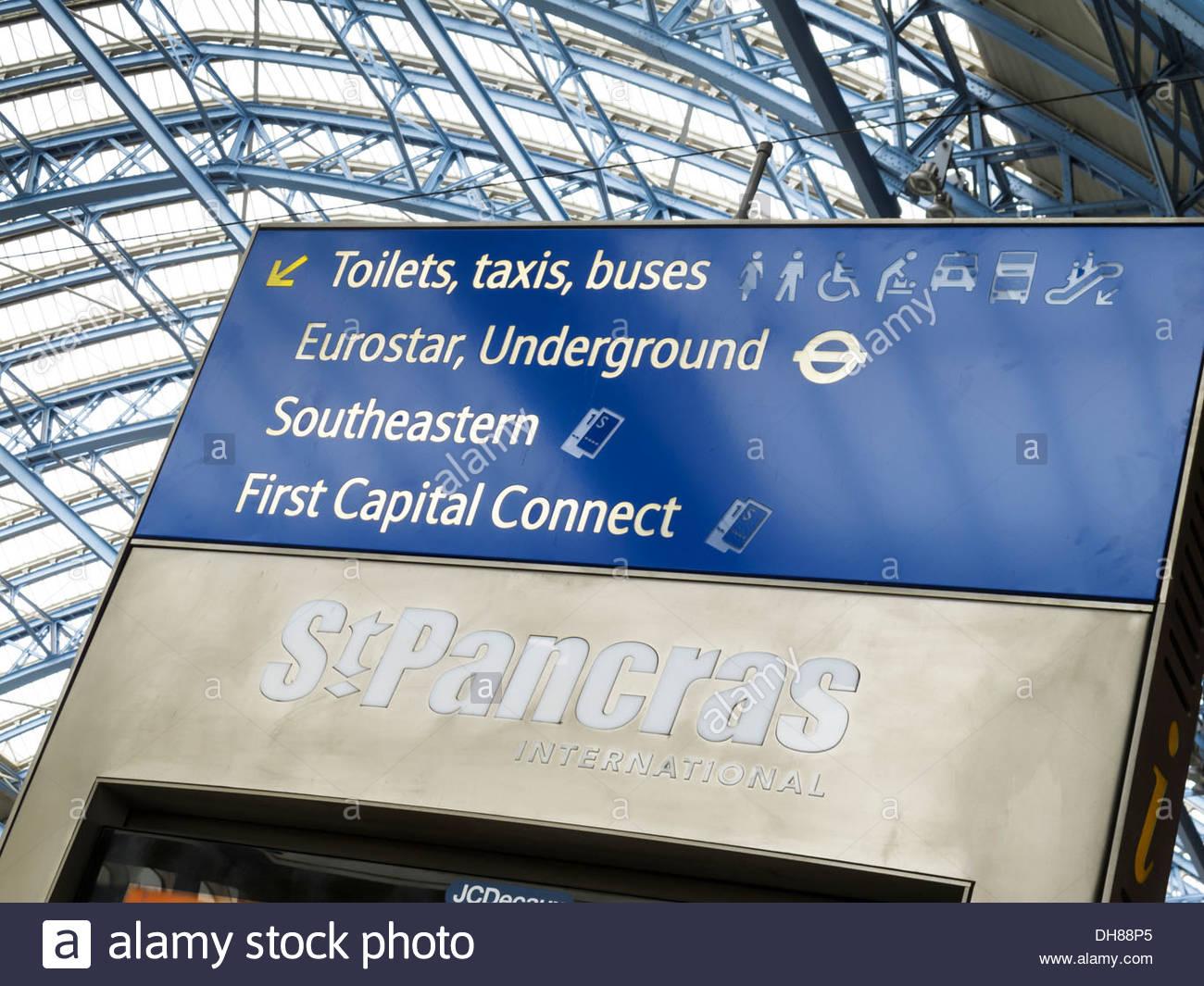 St Pancras International Railway Station London England - Stock Image