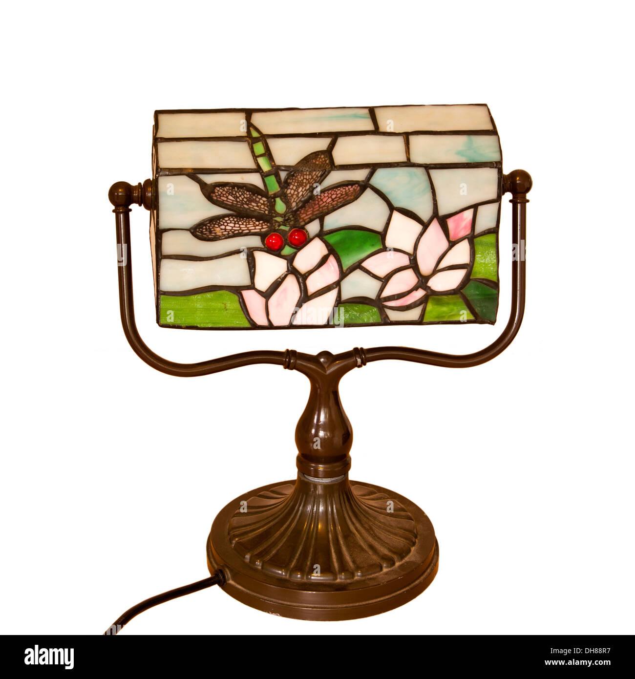 Desk Lamp Bankers lamps - Stock Image