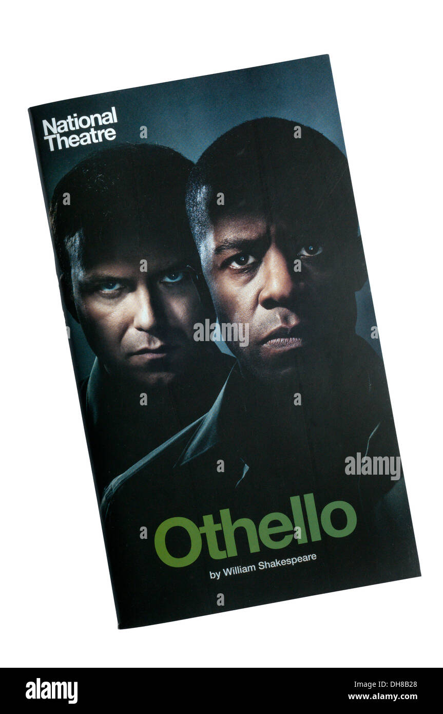 Programme for the 2013 production of Othello by William Shakespeare at the Olivier Theatre. - Stock Image