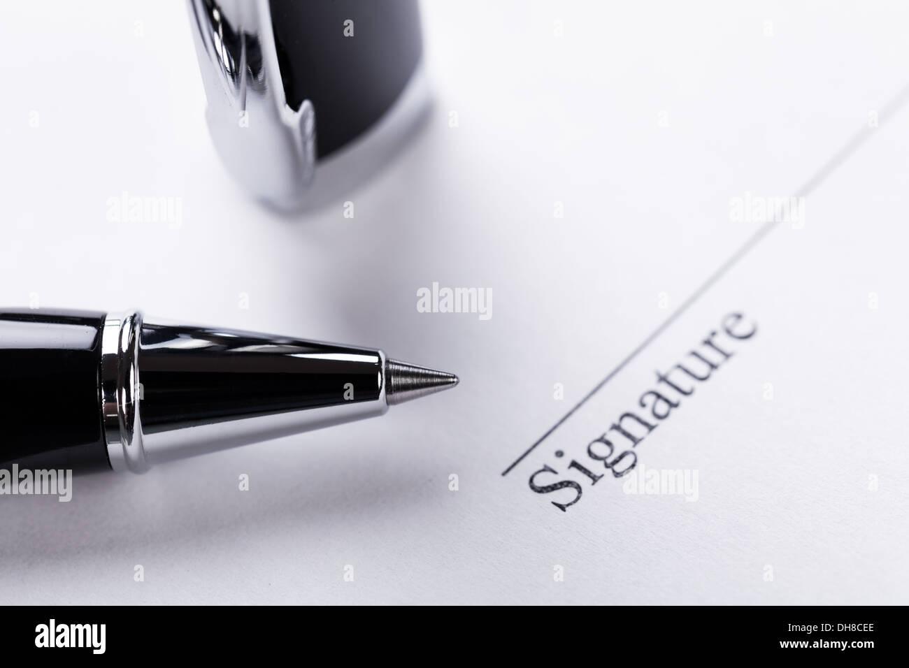 Unterschrift Stock Photos & Unterschrift Stock Images - Alamy