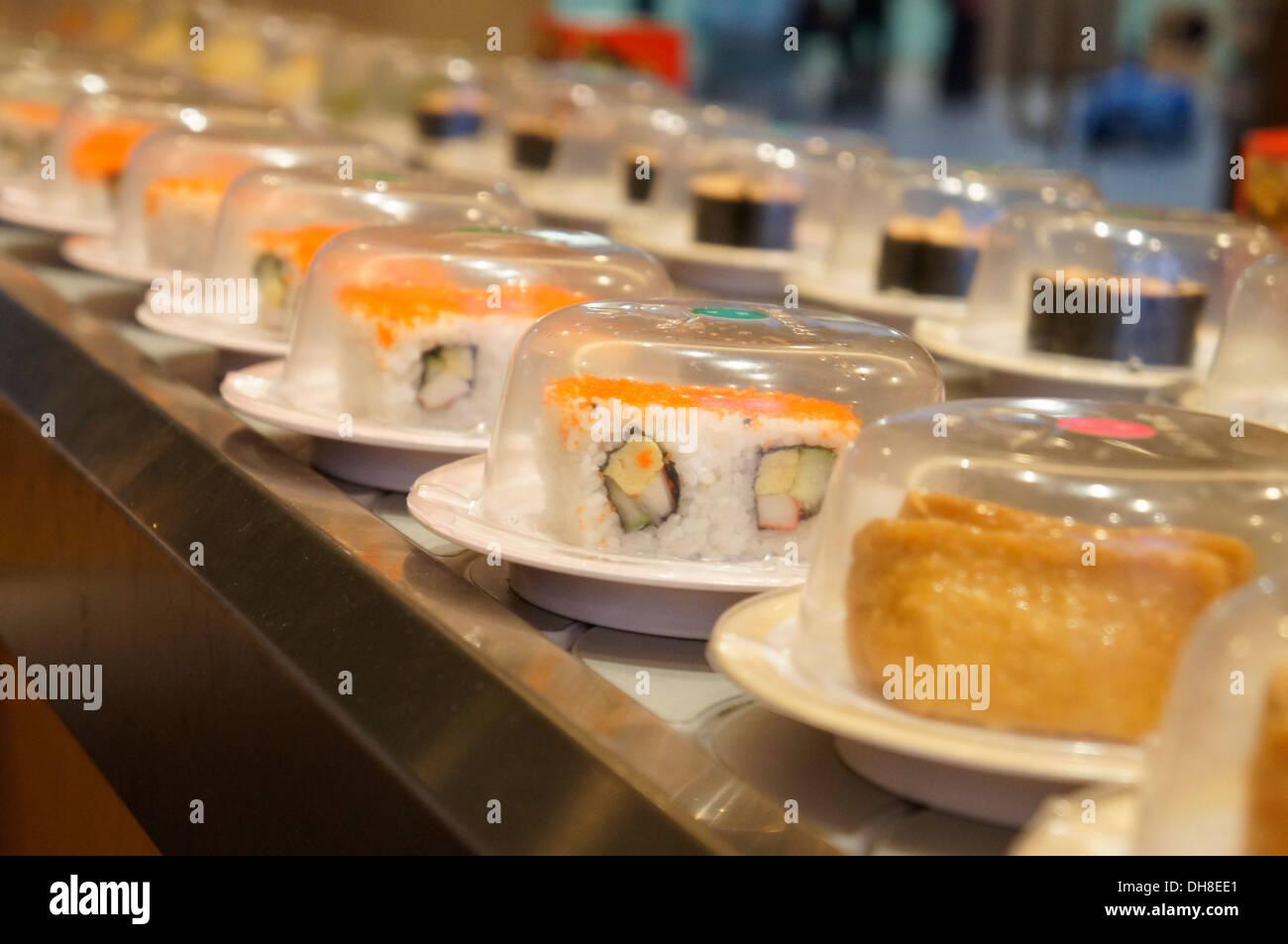 sushi belt - Stock Image