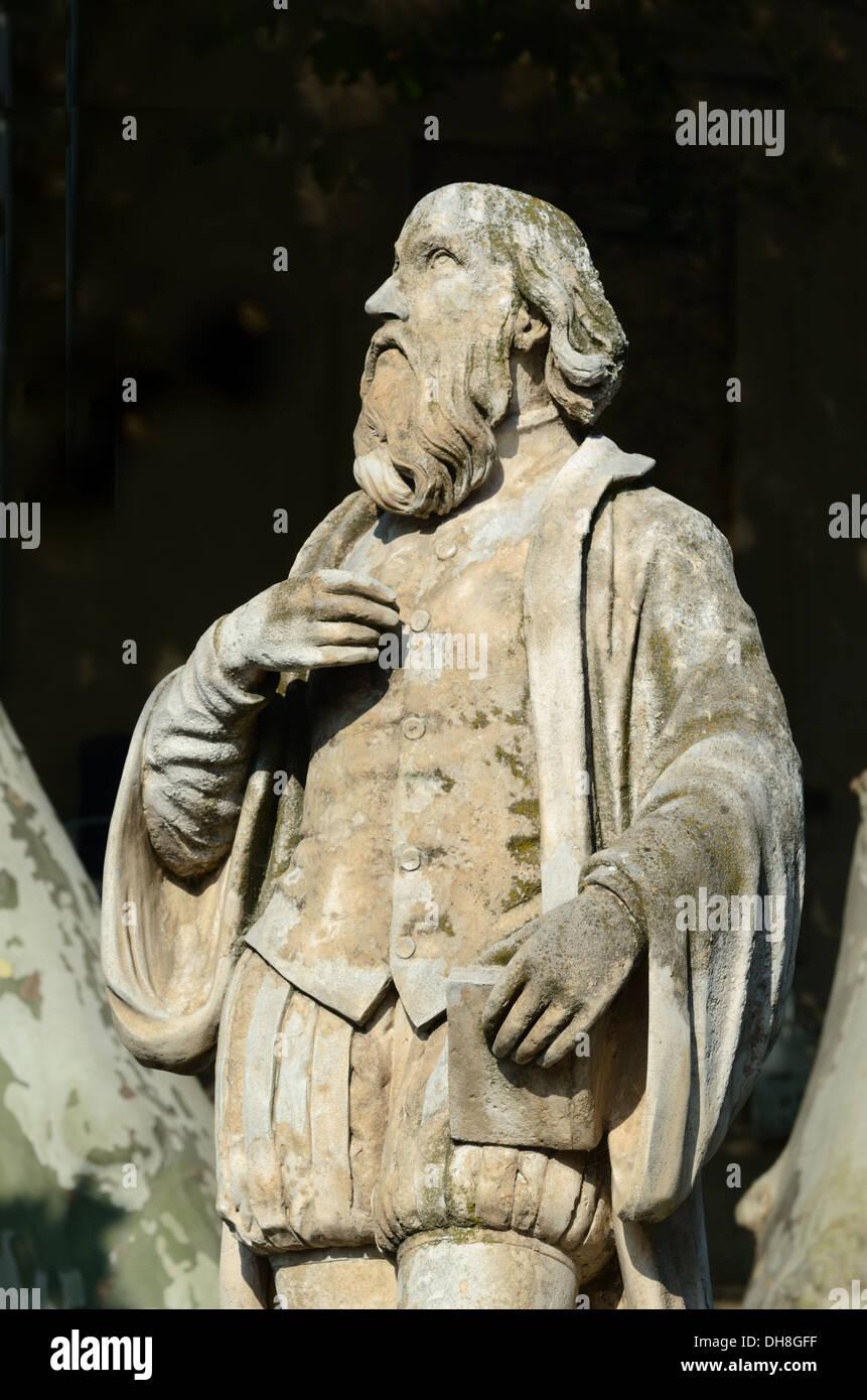 Nostradamus Statue Salon-de-Provence France - Stock Image