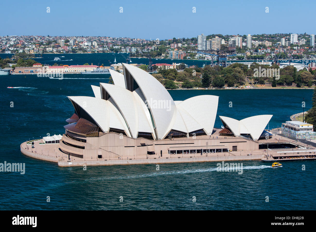 Sydney, Australia - October 16 - The Sydney Opera House closeup on a clear spring day on October 16th 2013. - Stock Image