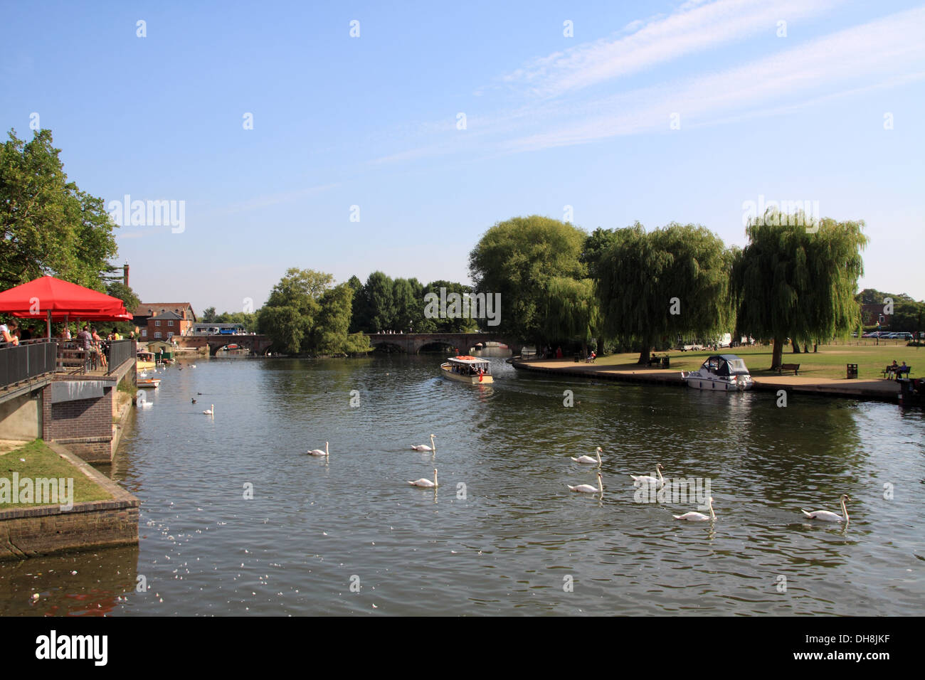 River Avon Stratford upon Avon - Stock Image