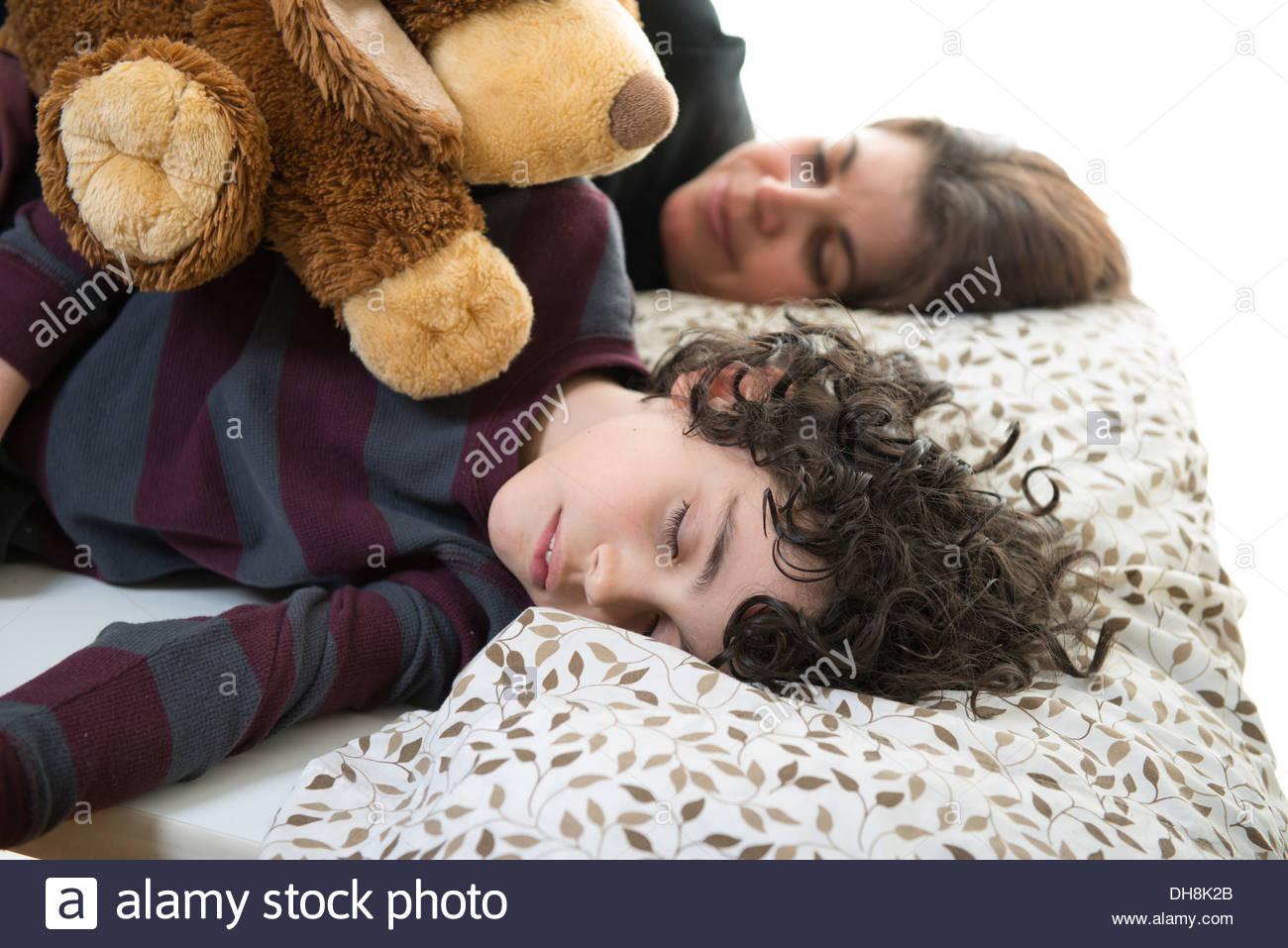 Mom sleep with her son