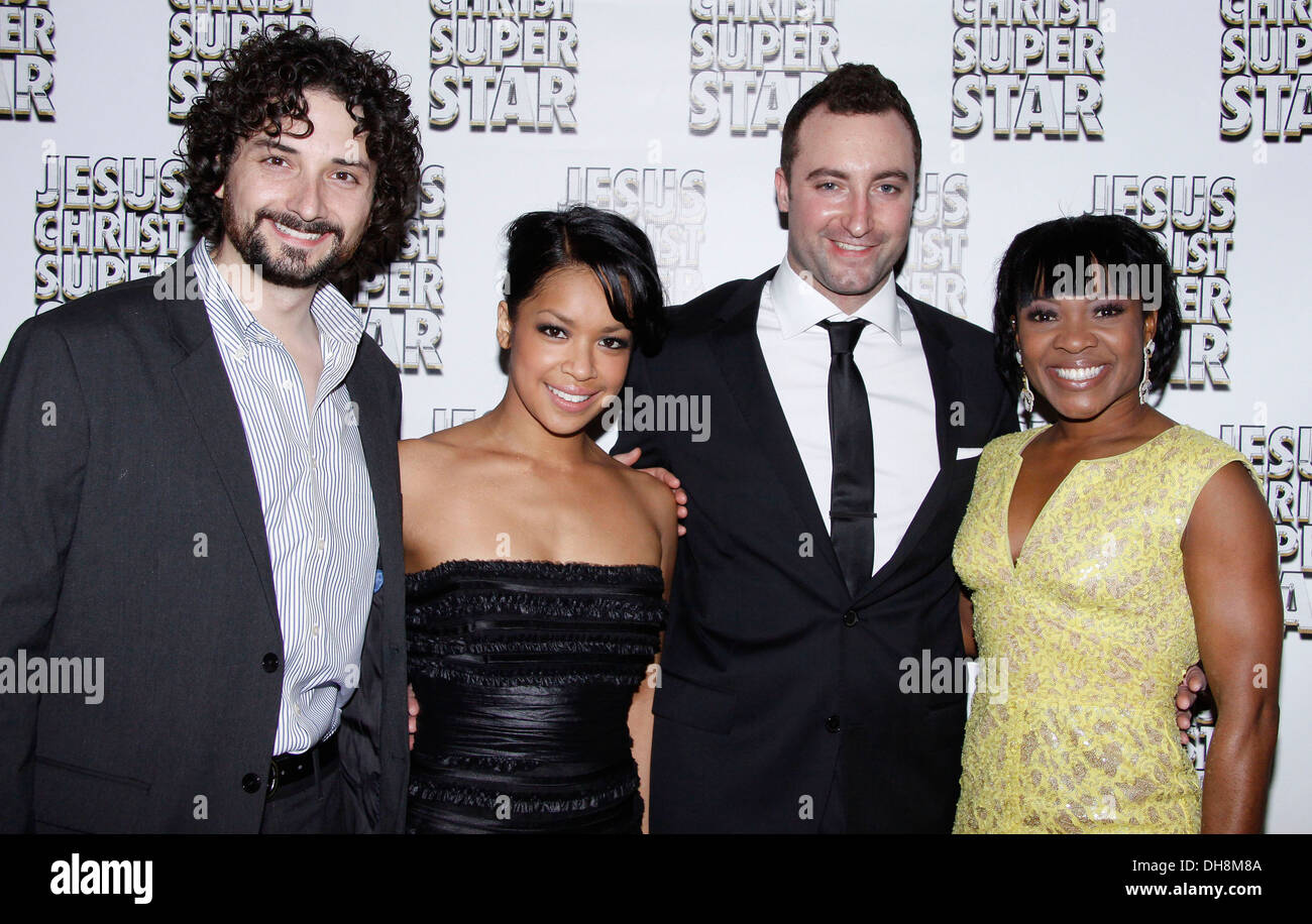 Mike Nadajewski Laurin Padolina and cast Broadway opening night after party for 'Jesus Christ Superstar' held at Hilton Hotel - Stock Image