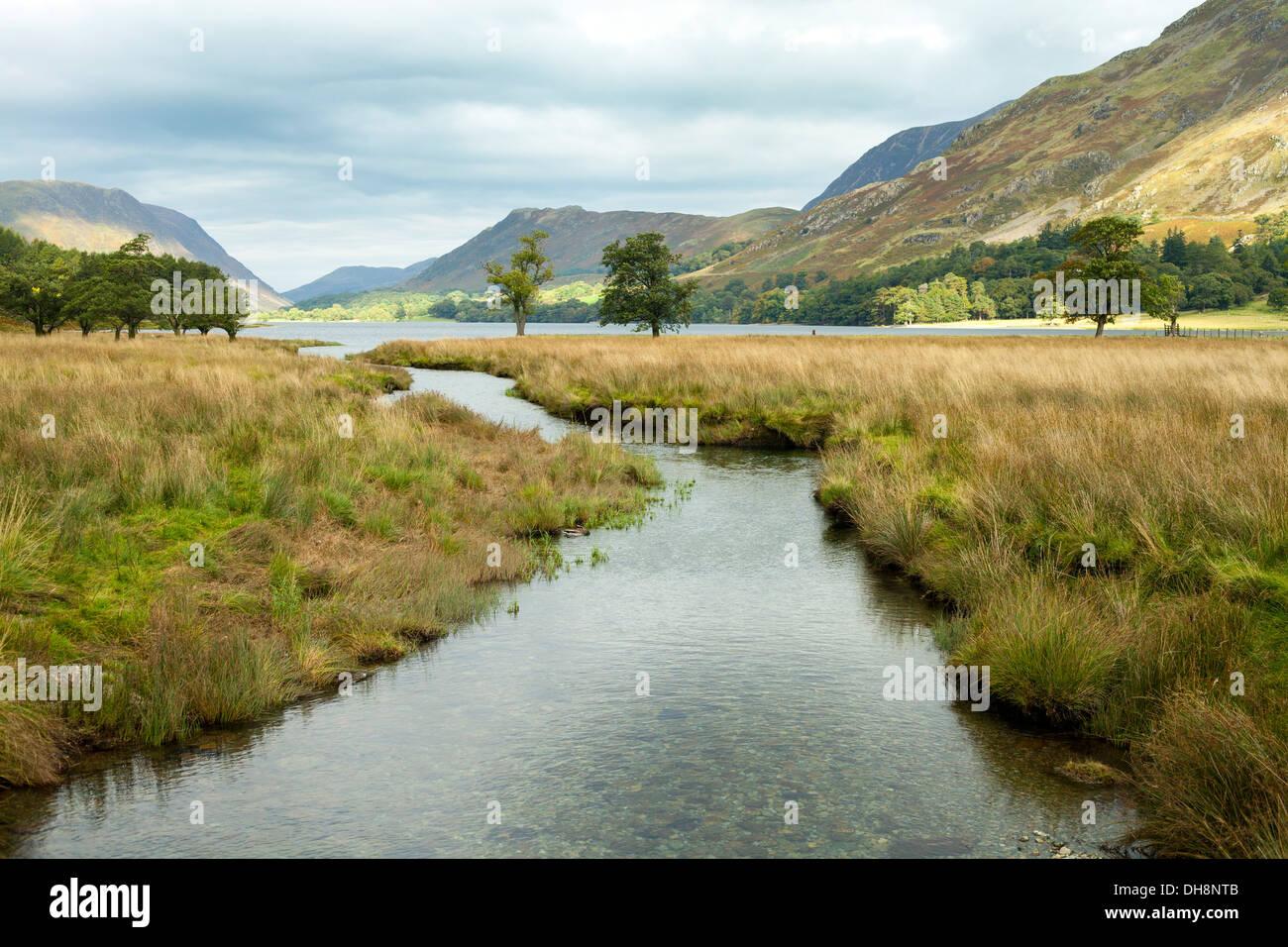 Buttermere Lake, Lake District, UK - Stock Image