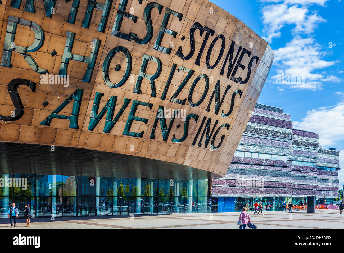 The Wales Millennium Centre in Cardiff Bay. - Stock Image