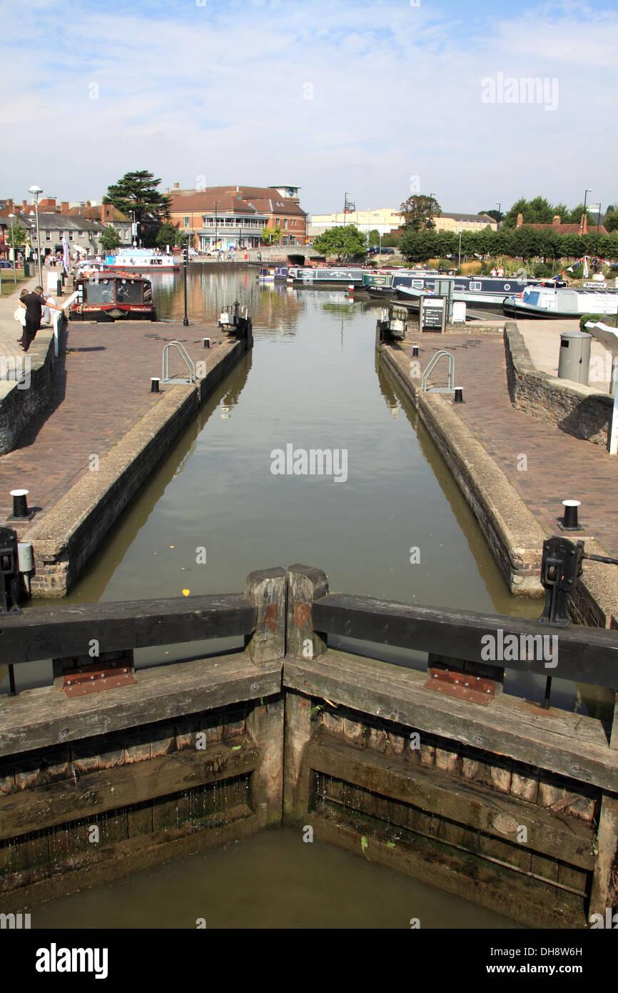 Stratford upon Avon Canal - Stock Image