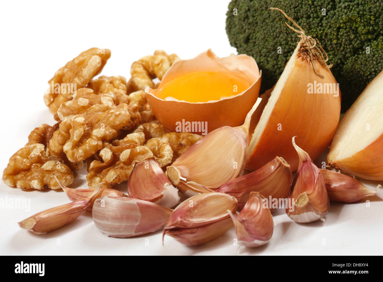 Sulfur Rich Foods Stock Photos & Sulfur Rich Foods Stock