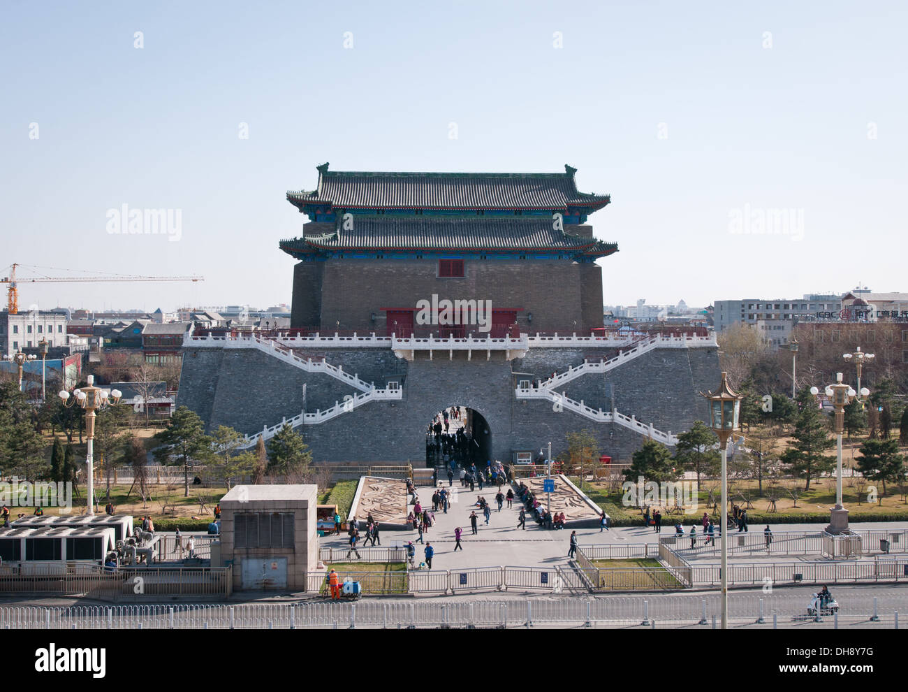 Arrow Tower (Jian Lou) located in south part of Tiananmen Square in Beijing, China - Stock Image