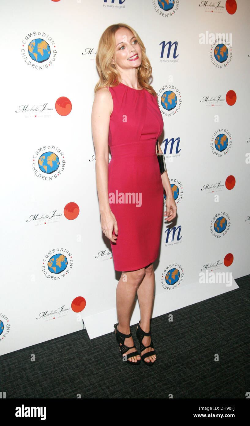 Heather Graham An Evening To Raise Awareness and Celebrate Cambodian Children's Fund at Tribeca Rooftop New York City USA - - Stock Image