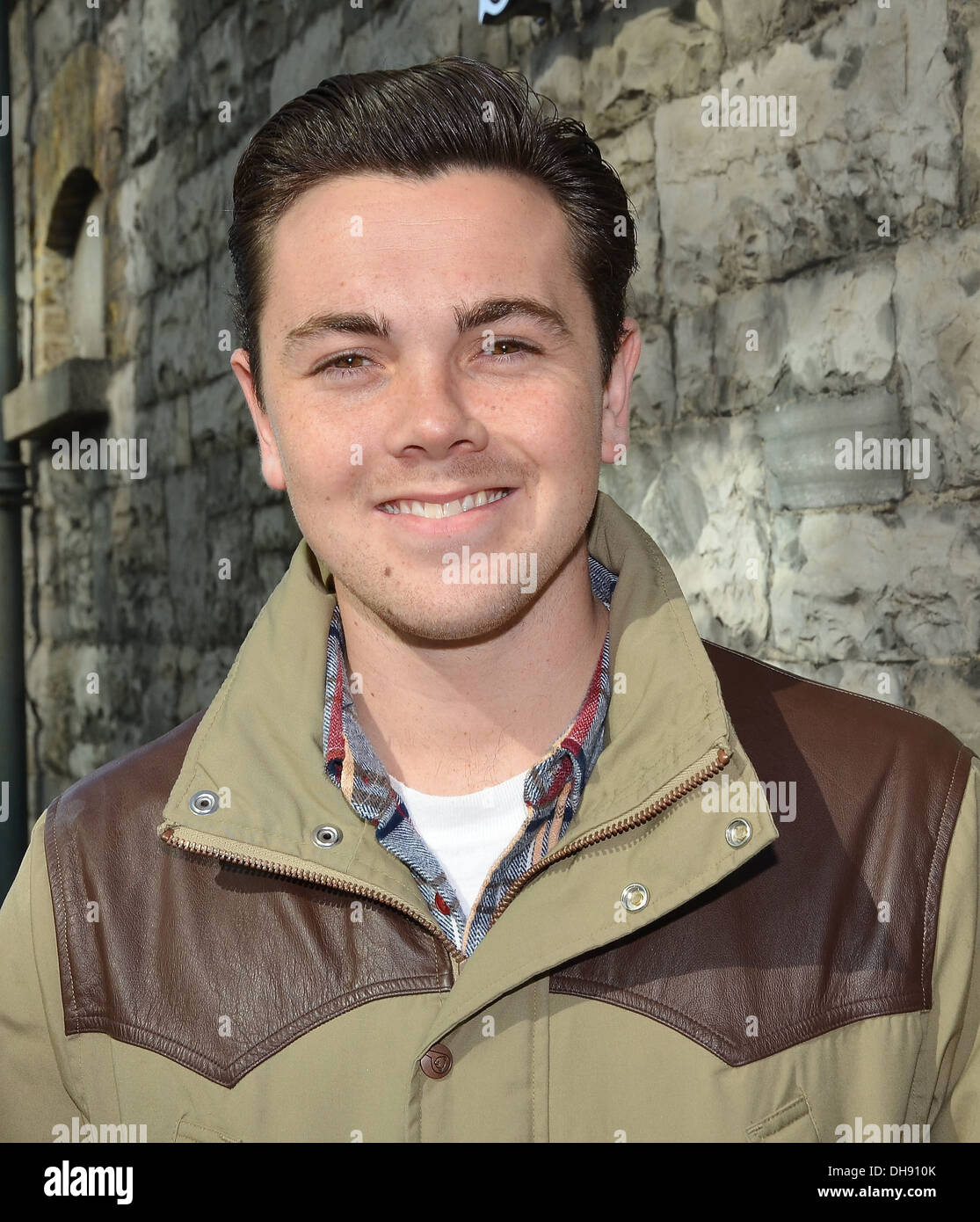 Ray Quinn The stars of Legally Blonde The Muscial at Spin FM Dublin, Ireland - 11.04.12 - Stock Image
