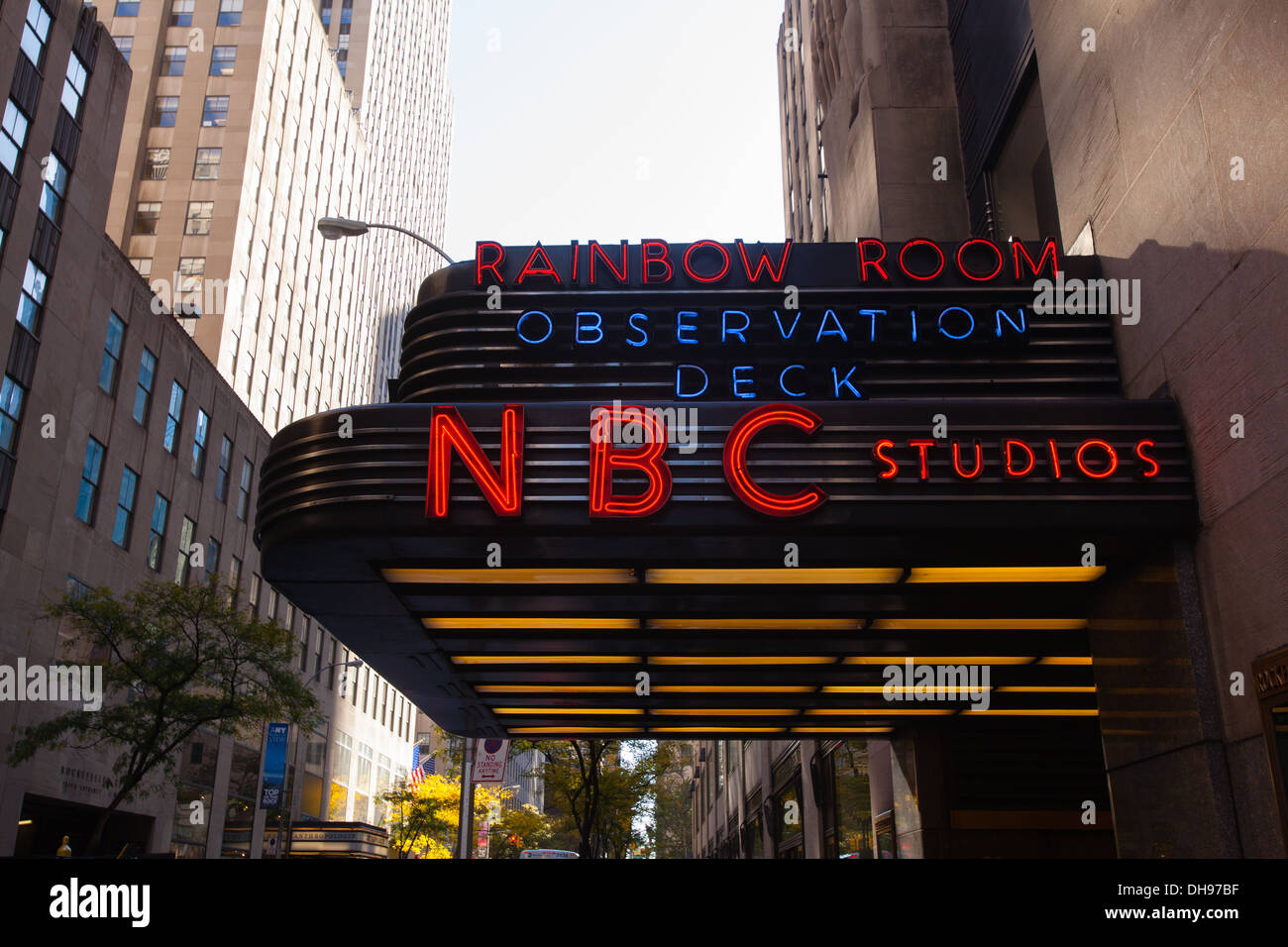 NBC Studios at the Rockefeller Center, New York City, United States of America. - Stock Image