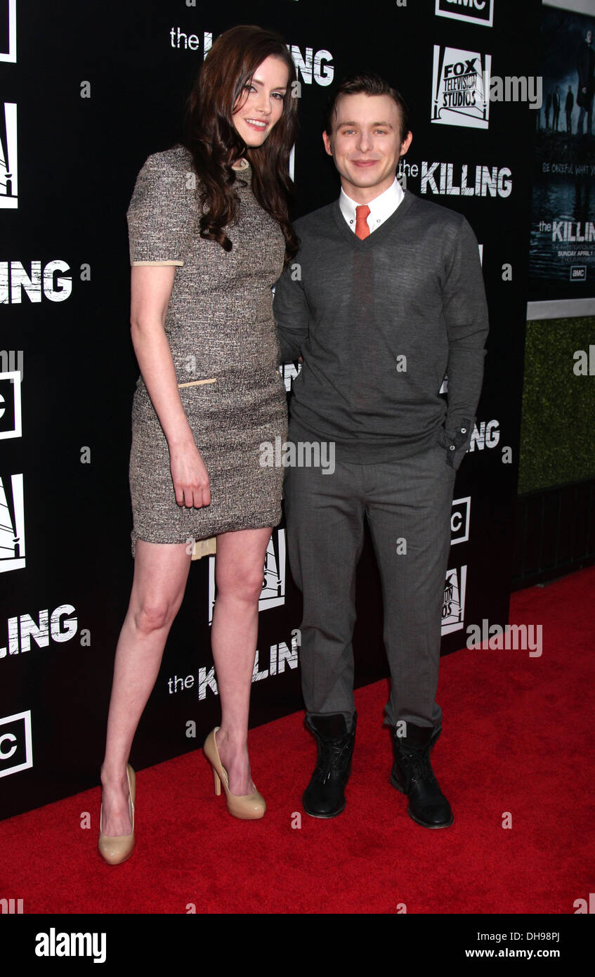 Jamie Anne Allman and Marshall Allman 'The Killing' special premiere screening at ArcLight Cinema Hollywood Los Angeles - Stock Image
